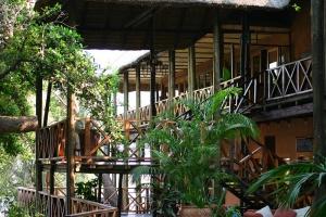Safari lodge on the edge of the bush